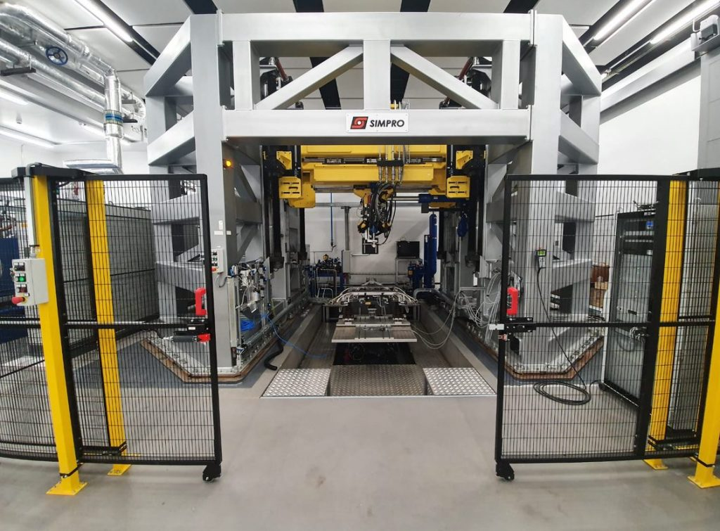 pantograph test bench in the university of Huddersfield